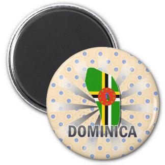 Mapa 2,0 de la bandera de Dominica Imán De Nevera