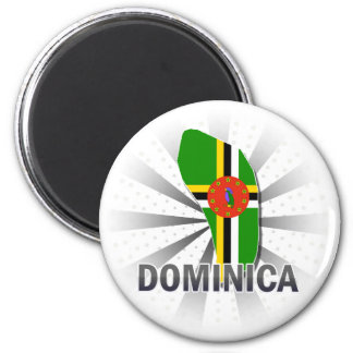 Mapa 2,0 de la bandera de Dominica Iman De Nevera