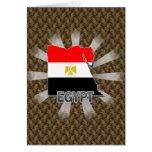 Mapa 2,0 de la bandera de Egipto Felicitaciones