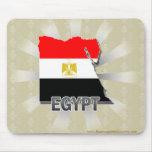 Mapa 2,0 de la bandera de Egipto Tapete De Raton