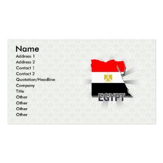 Mapa 2,0 de la bandera de Egipto Tarjetas De Visita