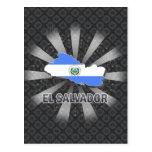 Mapa 2,0 de la bandera de El Salvador Postal