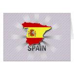 Mapa 2,0 de la bandera de España Tarjetón