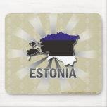 Mapa 2,0 de la bandera de Estonia Tapetes De Ratones