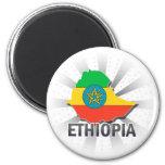 Mapa 2,0 de la bandera de Etiopía Imanes Para Frigoríficos