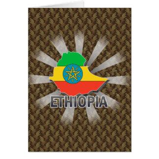 Mapa 2,0 de la bandera de Etiopía Tarjeta De Felicitación