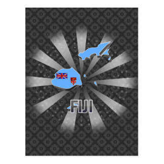 Mapa 2,0 de la bandera de Fiji Postales