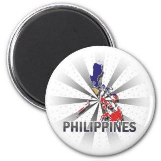 Mapa 2,0 de la bandera de Filipinas Imán De Frigorifico