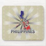 Mapa 2,0 de la bandera de Filipinas Tapete De Raton