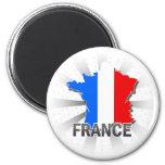 Mapa 2,0 de la bandera de Francia Iman De Nevera