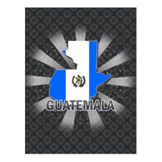 Mapa 2,0 de la bandera de Guatemala Tarjetas Postales