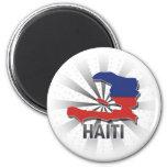 Mapa 2,0 de la bandera de Haití Iman Para Frigorífico