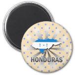 Mapa 2,0 de la bandera de Honduras Imán De Frigorífico
