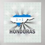 Mapa 2,0 de la bandera de Honduras Impresiones