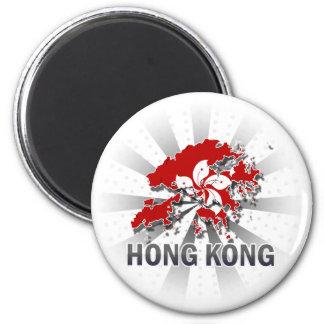 Mapa 2,0 de la bandera de Hong Kong Imanes Para Frigoríficos