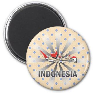 Mapa 2,0 de la bandera de Indonesia Iman Para Frigorífico