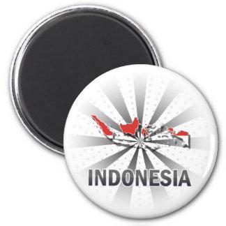 Mapa 2,0 de la bandera de Indonesia Imanes