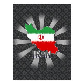 Mapa 2,0 de la bandera de Irán Postales