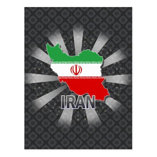 Mapa 2,0 de la bandera de Irán Postal