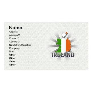 Mapa 2,0 de la bandera de Irlanda Tarjetas De Visita