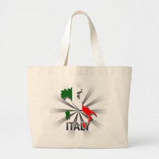 Mapa 2,0 de la bandera de Italia Bolsa Tela Grande