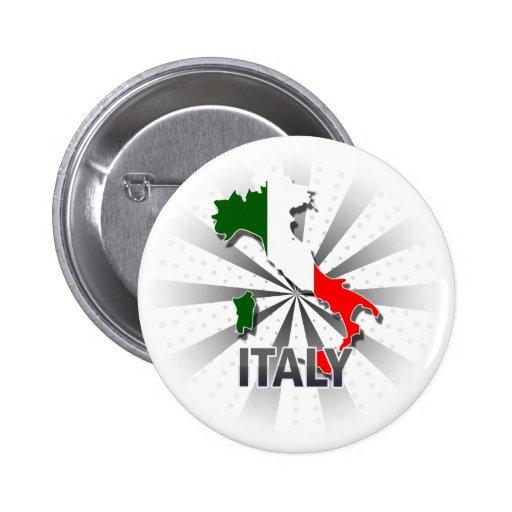 Mapa 2,0 de la bandera de Italia Pin