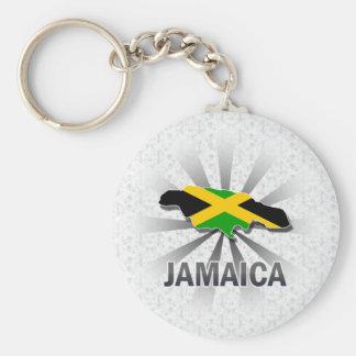 Mapa 2,0 de la bandera de Jamaica Llavero Redondo Tipo Pin