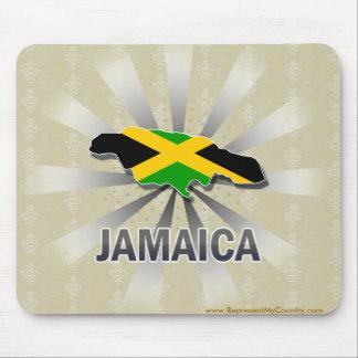 Mapa 2 0 de la bandera de Jamaica Alfombrilla De Ratones