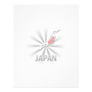 Mapa 2,0 de la bandera de Japón Plantillas De Membrete
