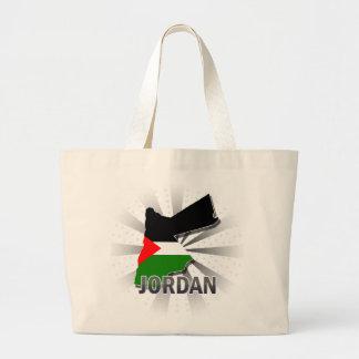 Mapa 2,0 de la bandera de Jordania Bolsa