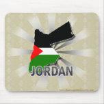 Mapa 2,0 de la bandera de Jordania Tapete De Ratón