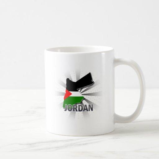 Mapa 2,0 de la bandera de Jordania Taza De Café