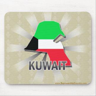 Mapa 2,0 de la bandera de Kuwait Alfombrilla De Ratones