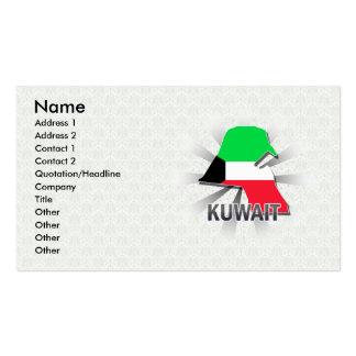 Mapa 2,0 de la bandera de Kuwait Tarjetas De Visita