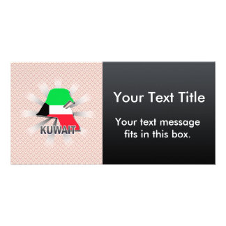 Mapa 2,0 de la bandera de Kuwait Tarjeta Personal Con Foto