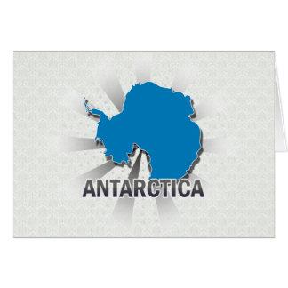 Mapa 2,0 de la bandera de la Antártida Tarjeta