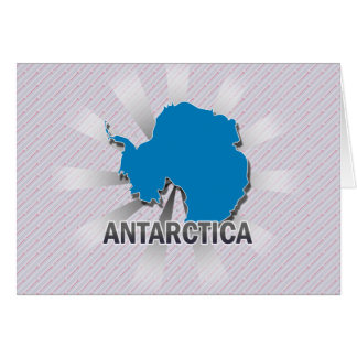 Mapa 2,0 de la bandera de la Antártida Felicitación