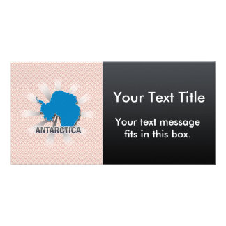 Mapa 2,0 de la bandera de la Antártida Tarjeta Personal Con Foto