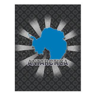 Mapa 2,0 de la bandera de la Antártida Tarjeta Postal