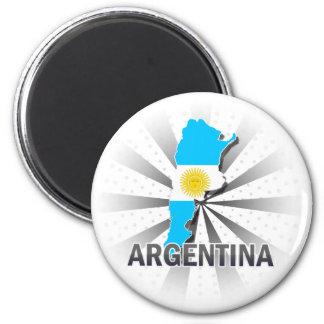 Mapa 2,0 de la bandera de la Argentina Imán De Frigorifico