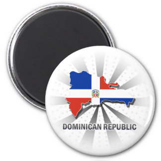 Mapa 2,0 de la bandera de la República Dominicana Iman De Frigorífico
