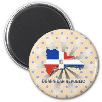 Mapa 2,0 de la bandera de la República Dominicana Imán Para Frigorifico