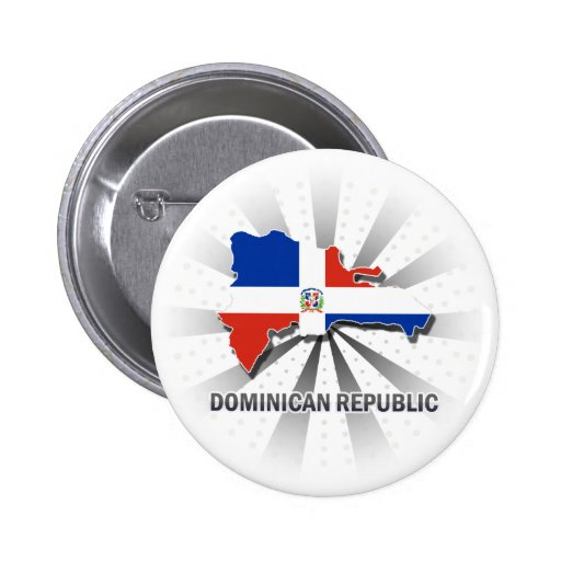 Mapa 2,0 de la bandera de la República Dominicana Pin