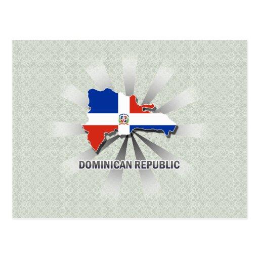 Mapa 2,0 de la bandera de la República Dominicana Postal