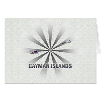 Mapa 2,0 de la bandera de las Islas Caimán Tarjetas