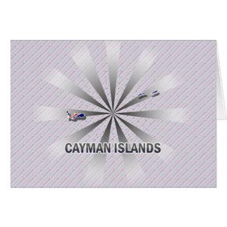 Mapa 2,0 de la bandera de las Islas Caimán Felicitación