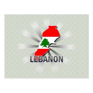 Mapa 2,0 de la bandera de Líbano Postales