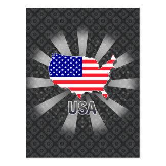 Mapa 2,0 de la bandera de los E.E.U.U. Postal