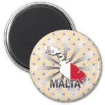 Mapa 2,0 de la bandera de Malta Imanes De Nevera