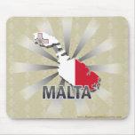 Mapa 2,0 de la bandera de Malta Alfombrilla De Raton